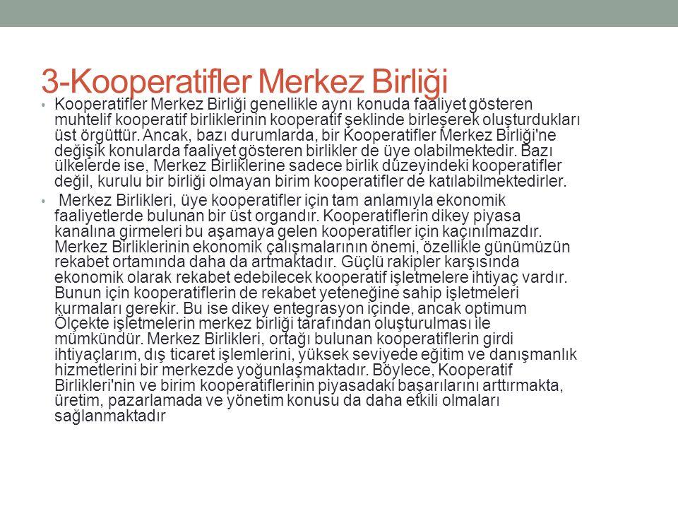 3-Kooperatifler Merkez Birliği