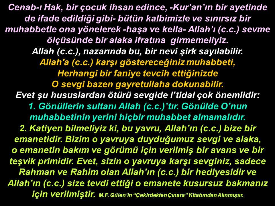 Allah (c.c.), nazarında bu, bir nevi şirk sayılabilir.