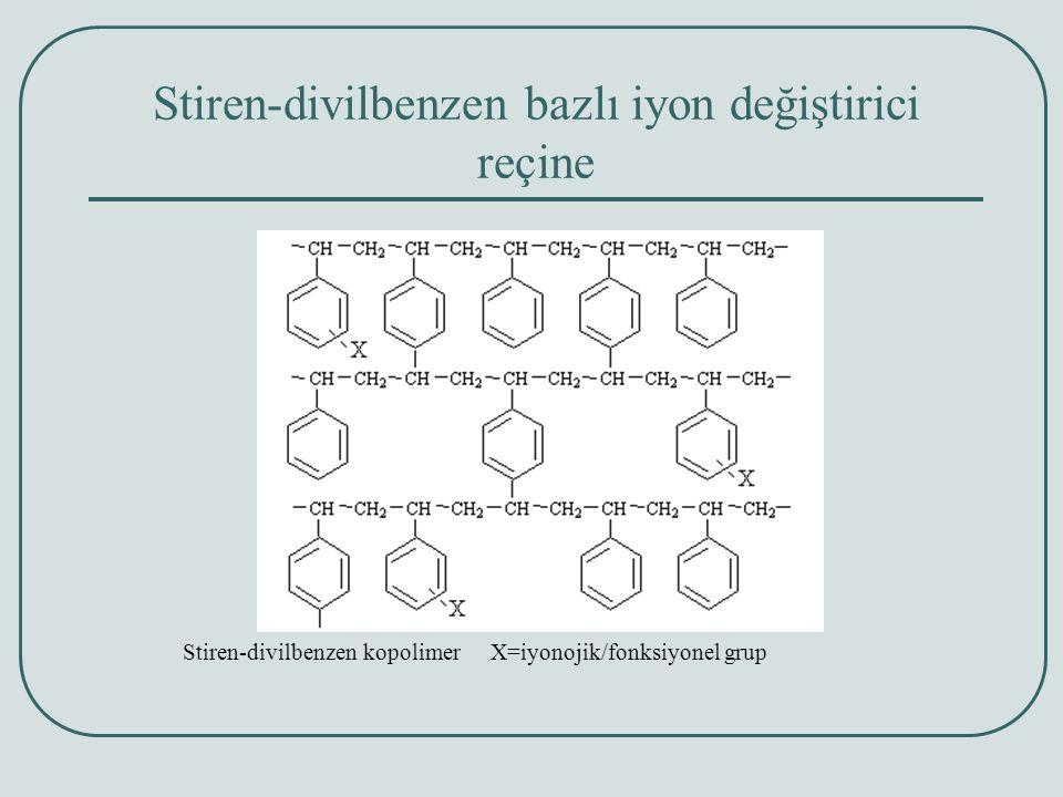 Stiren-divilbenzen bazlı iyon değiştirici reçine