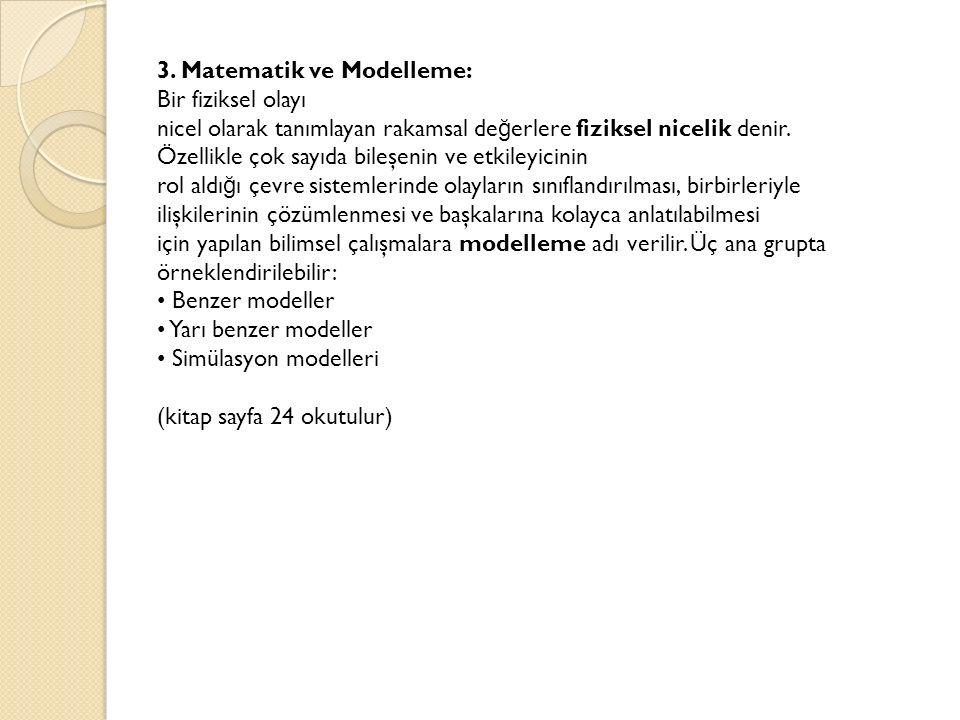 3. Matematik ve Modelleme: