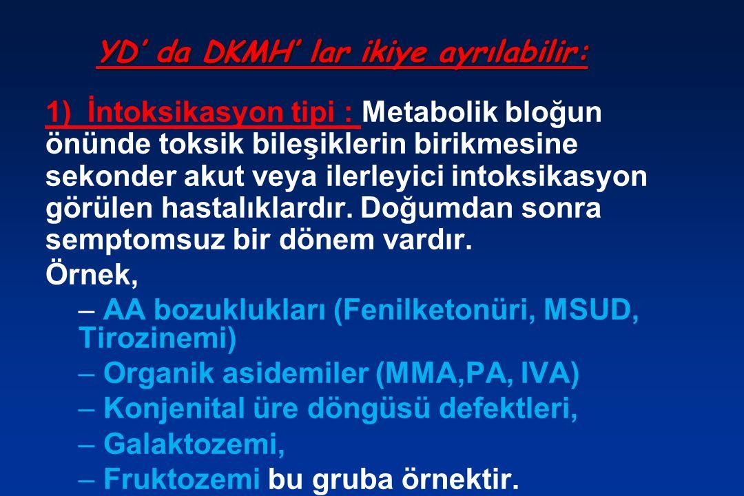 YD' da DKMH' lar ikiye ayrılabilir: