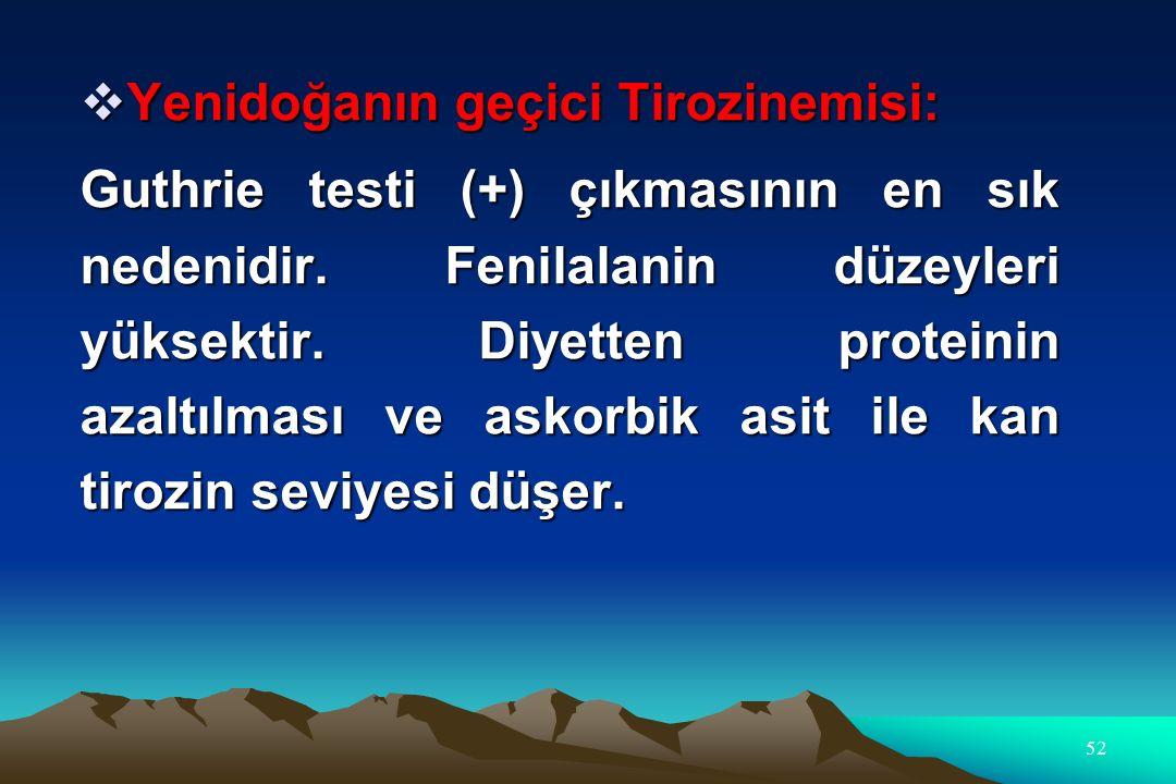Yenidoğanın geçici Tirozinemisi: