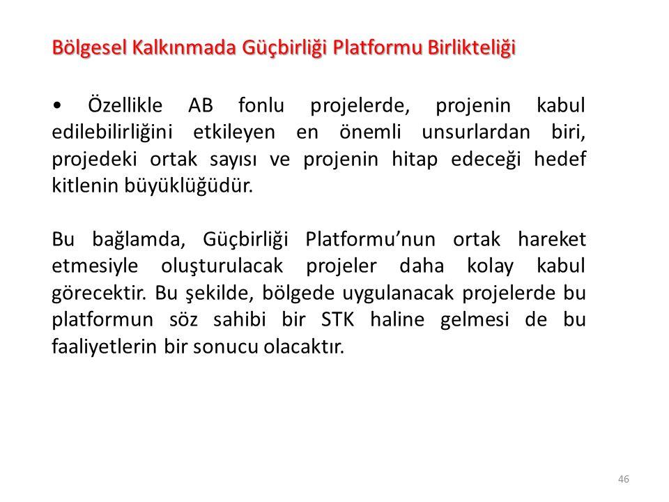 Bölgesel Kalkınmada Güçbirliği Platformu Birlikteliği