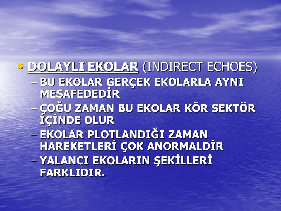 DOLAYLI EKOLAR (INDIRECT ECHOES)