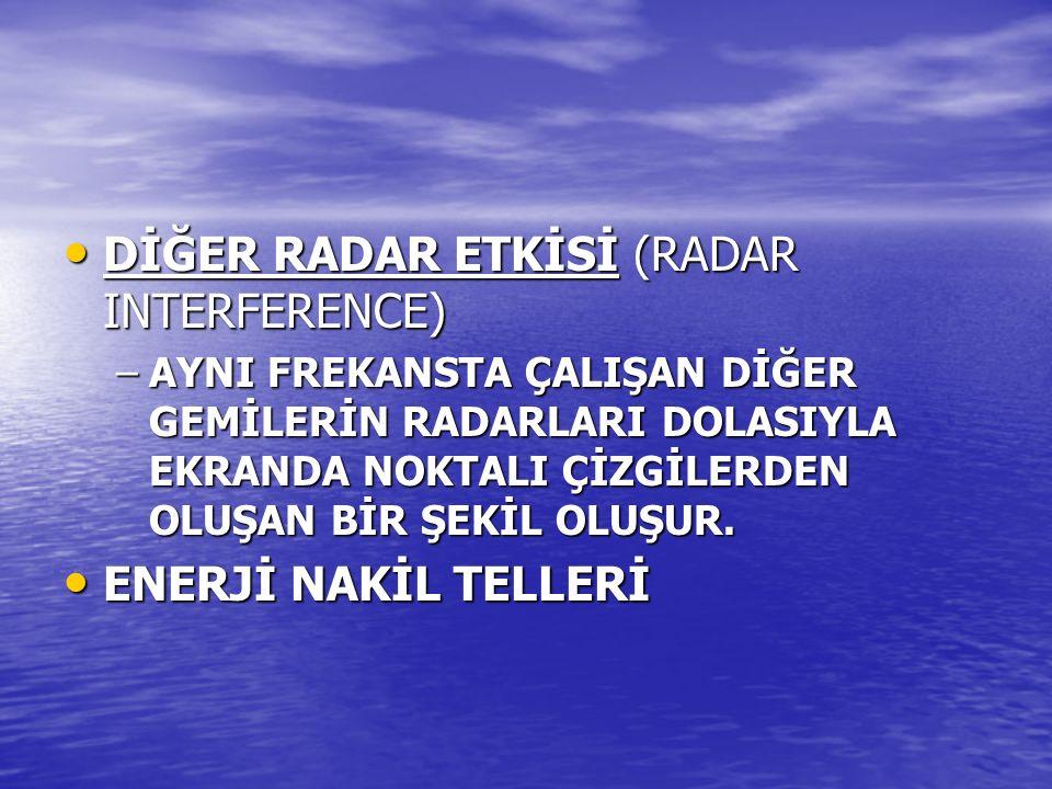 DİĞER RADAR ETKİSİ (RADAR INTERFERENCE)