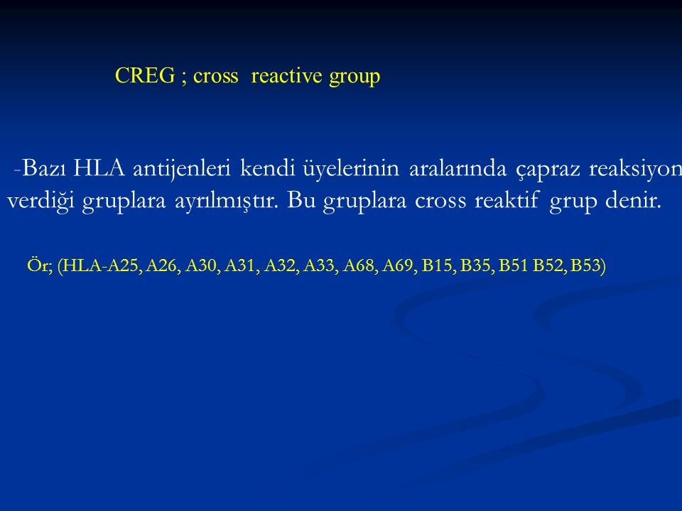 CREG ; cross reactive group