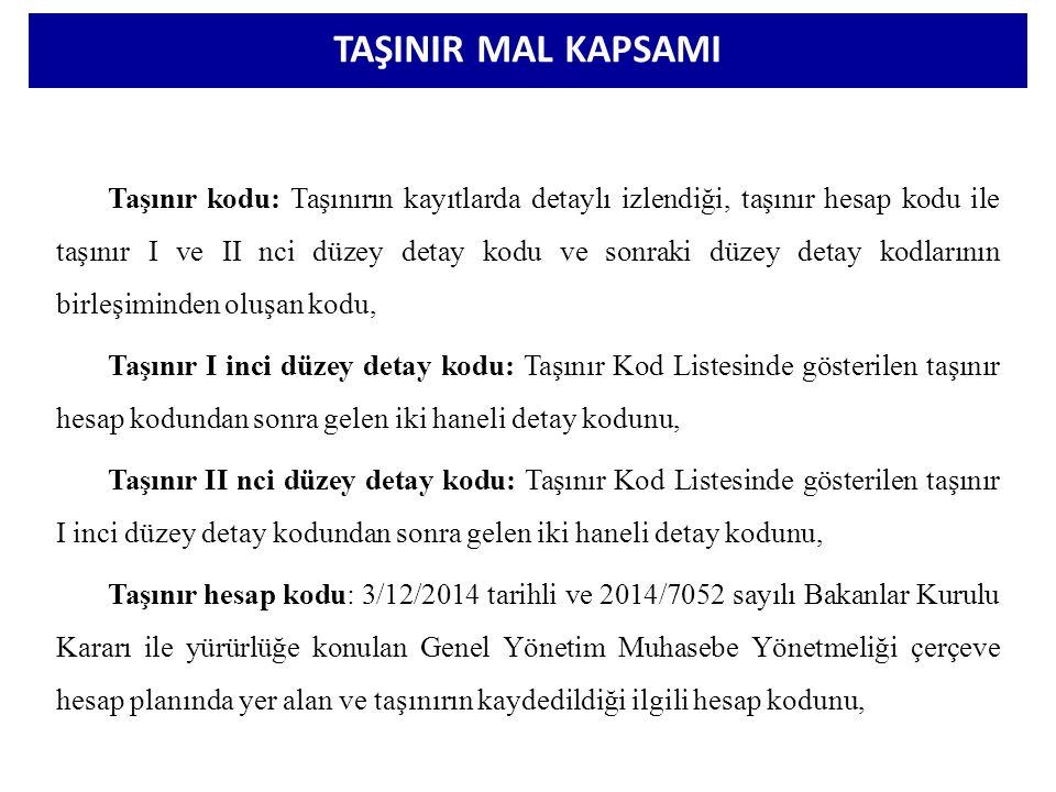 TAŞINIR MAL KAPSAMI