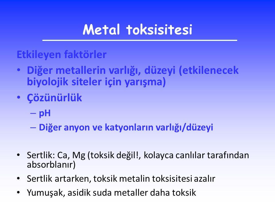 Metal toksisitesi Etkileyen faktörler