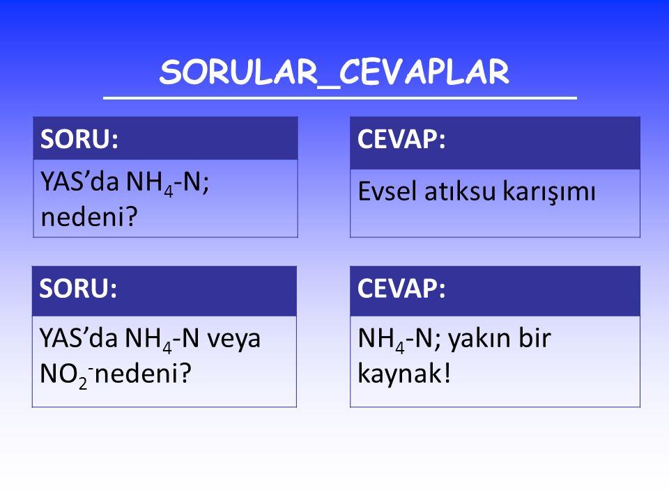 SORULAR_CEVAPLAR SORU: YAS'da NH4-N; nedeni CEVAP: