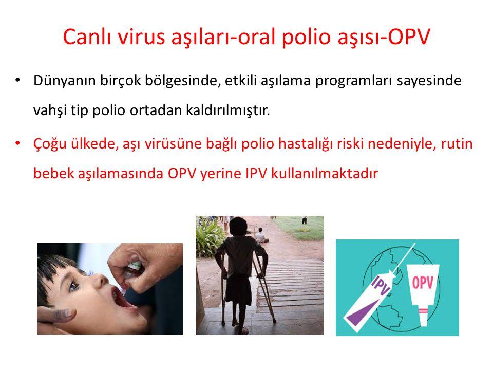 Canlı virus aşıları-oral polio aşısı-OPV