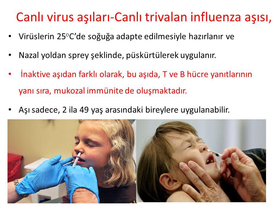 Canlı virus aşıları-Canlı trivalan influenza aşısı,