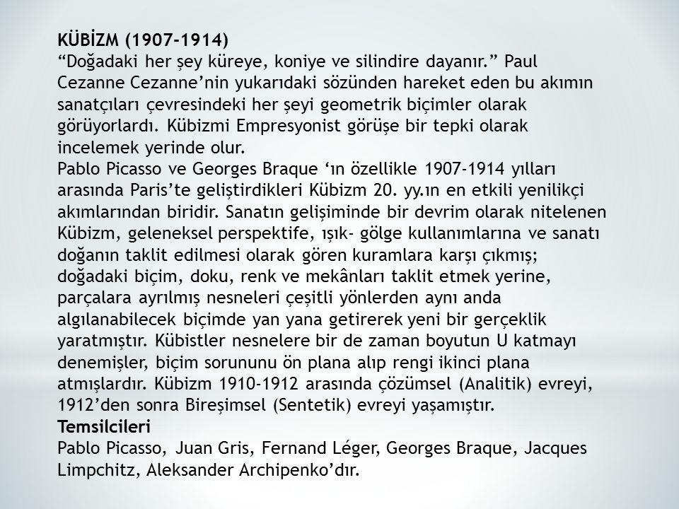 KÜBİZM (1907-1914)