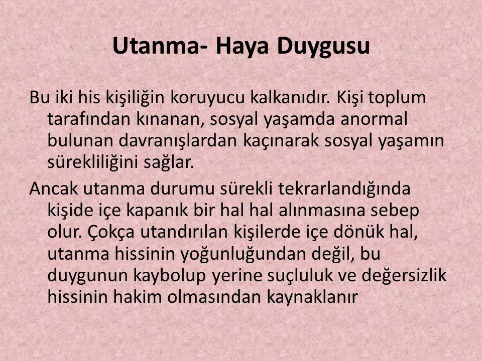 Utanma- Haya Duygusu