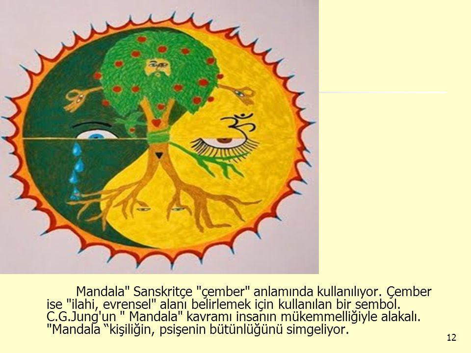 Mandala Sanskritçe çember anlamında kullanılıyor