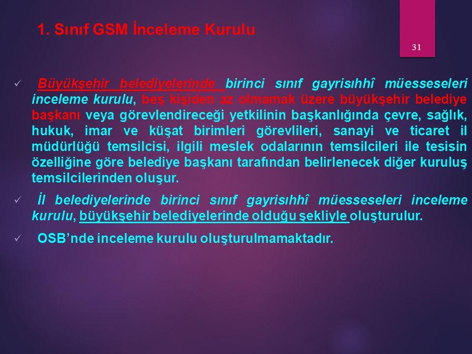 1. Sınıf GSM İnceleme Kurulu