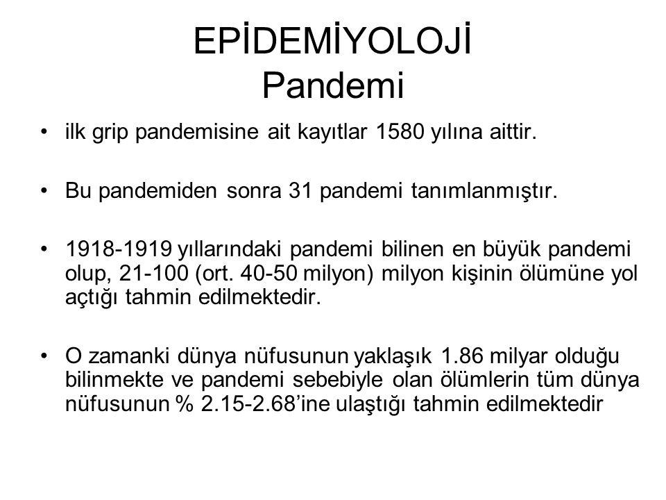 EPİDEMİYOLOJİ Pandemi