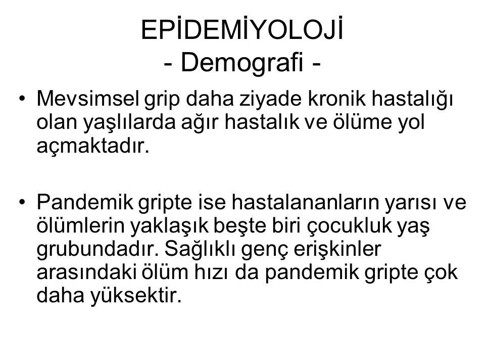 EPİDEMİYOLOJİ - Demografi -