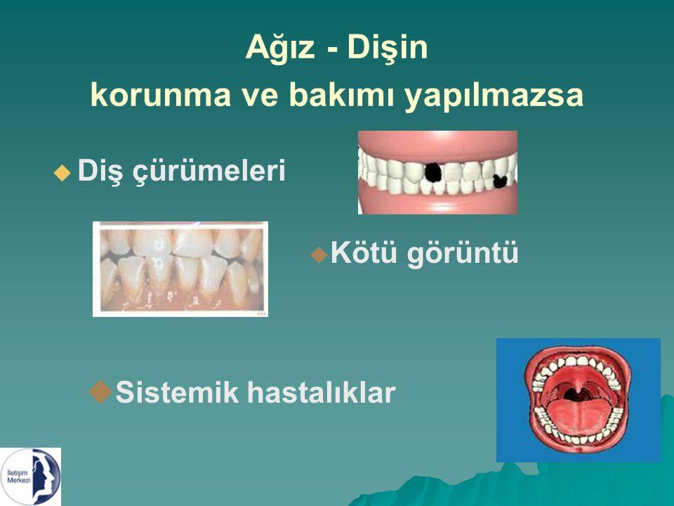 Ağız - Dişin korunma ve bakımı yapılmazsa