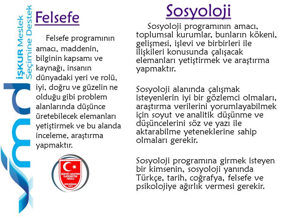 Felsefe Sosyoloji.