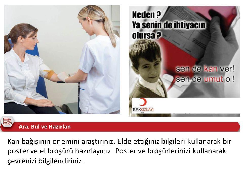 Kan bağışının önemini araştırınız