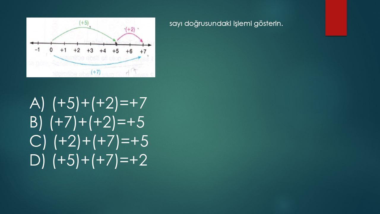 A) (+5)+(+2)=+7 B) (+7)+(+2)=+5 C) (+2)+(+7)=+5 D) (+5)+(+7)=+2