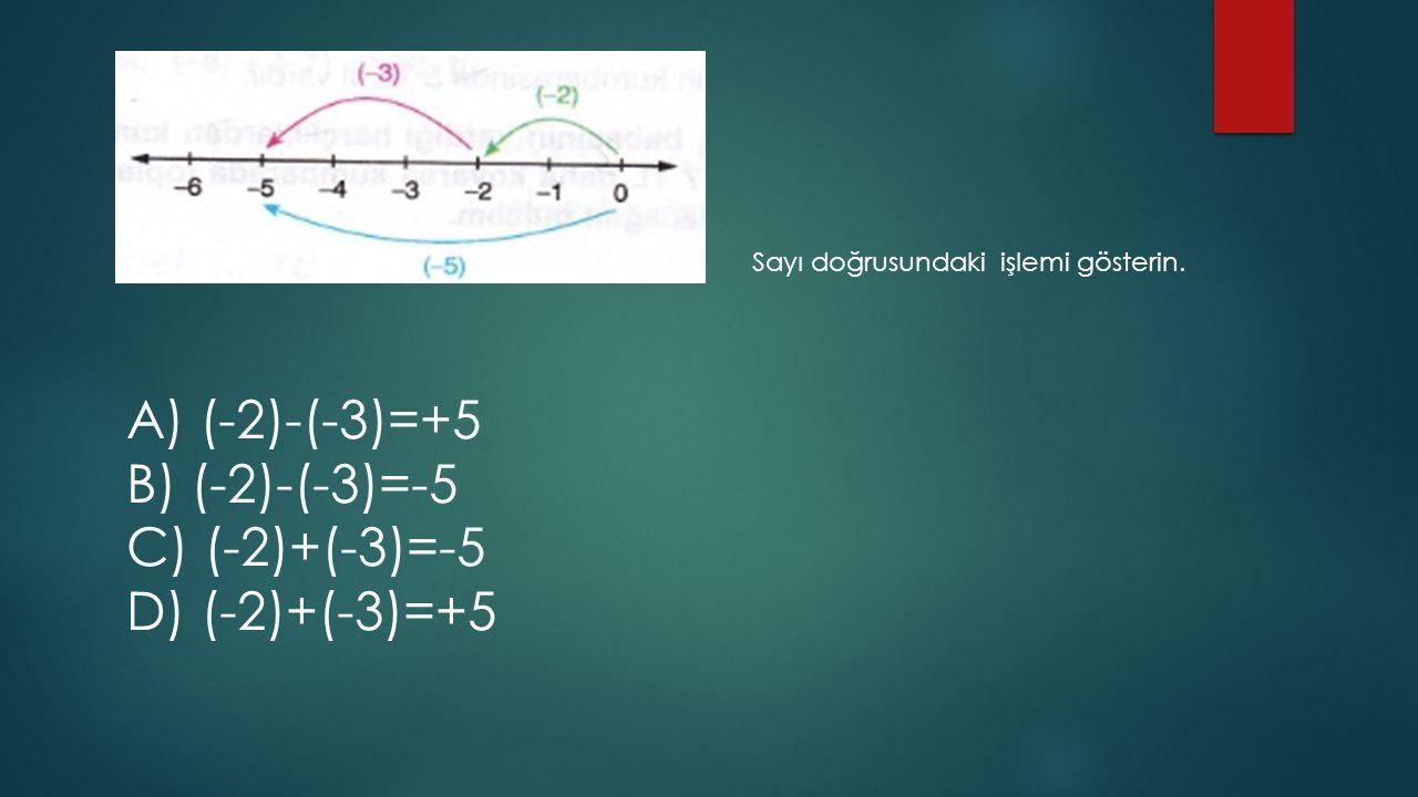 A) (-2)-(-3)=+5 B) (-2)-(-3)=-5 C) (-2)+(-3)=-5 D) (-2)+(-3)=+5