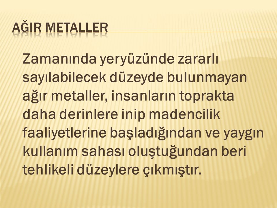 ağIr metaller