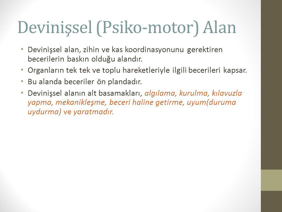 Devinişsel (Psiko-motor) Alan