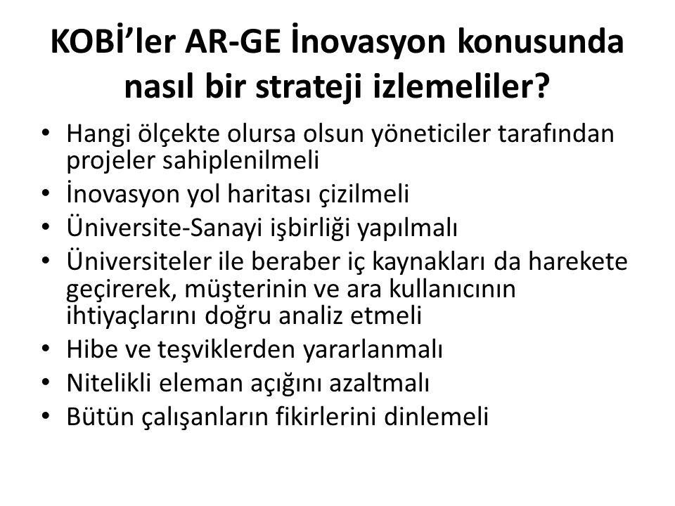 KOBİ'ler AR-GE İnovasyon konusunda nasıl bir strateji izlemeliler