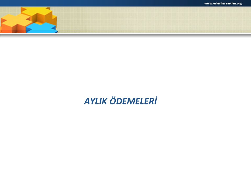 www.erkankaraarslan.org AYLIK ÖDEMELERİ