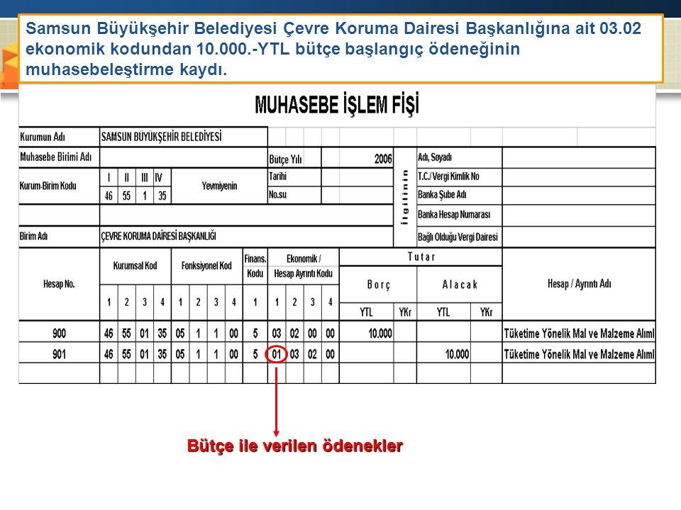 Samsun Büyükşehir Belediyesi Çevre Koruma Dairesi Başkanlığına ait 03