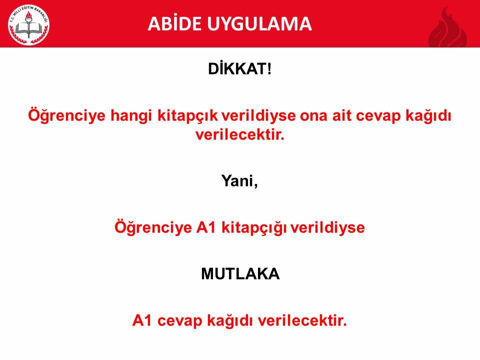 ABİDE ABİDE UYGULAMA DİKKAT!