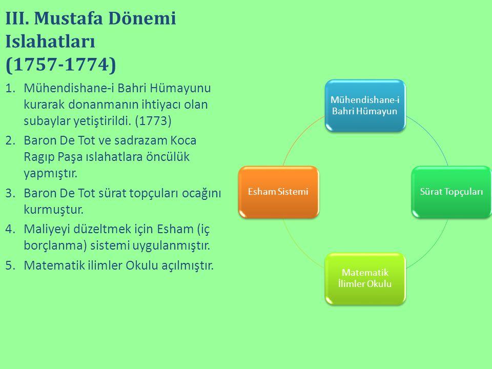 III. Mustafa Dönemi Islahatları (1757-1774)