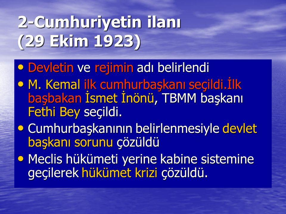 2-Cumhuriyetin ilanı (29 Ekim 1923)