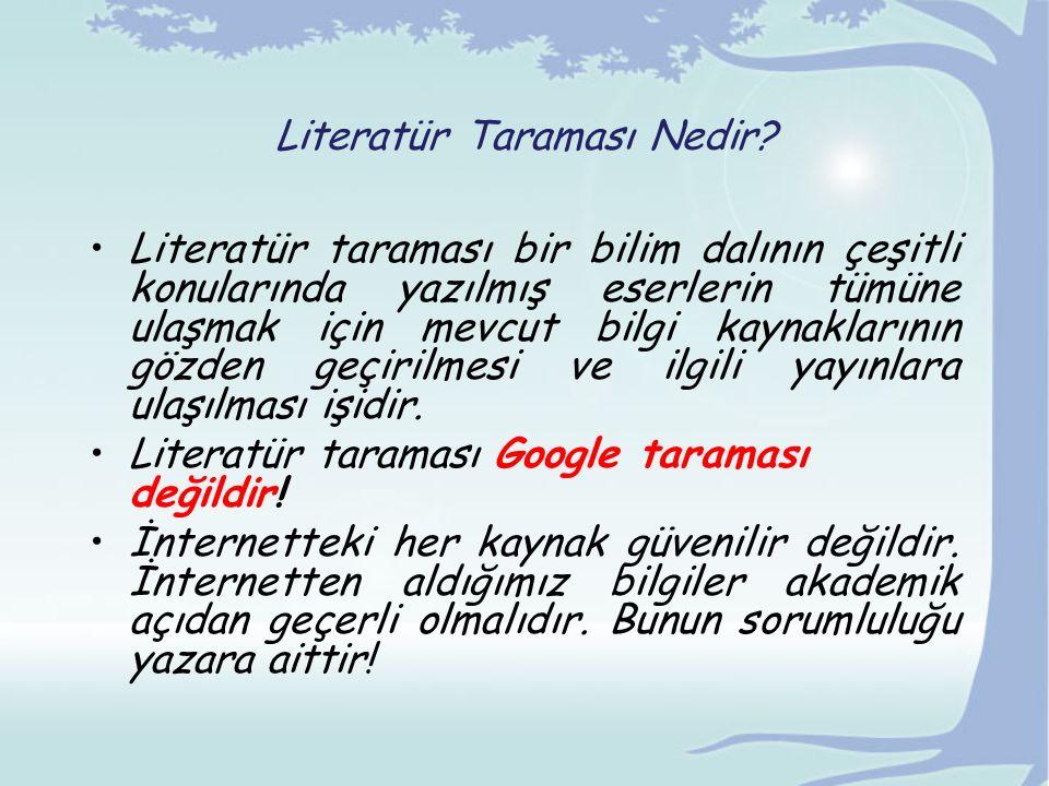 Literatür Taraması Nedir
