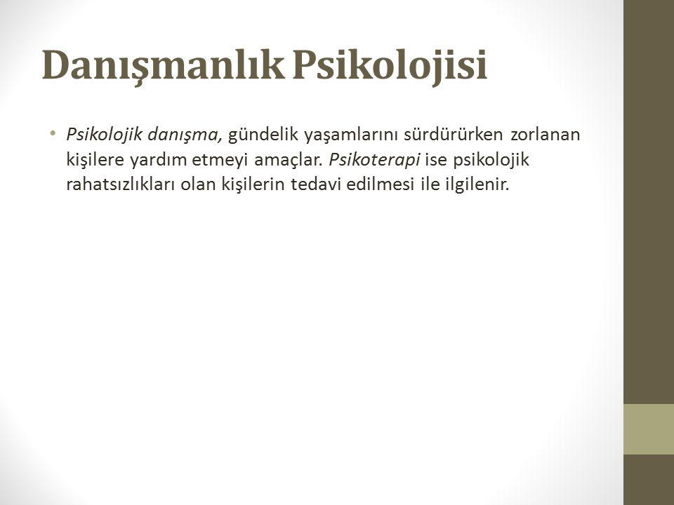 Danışmanlık Psikolojisi