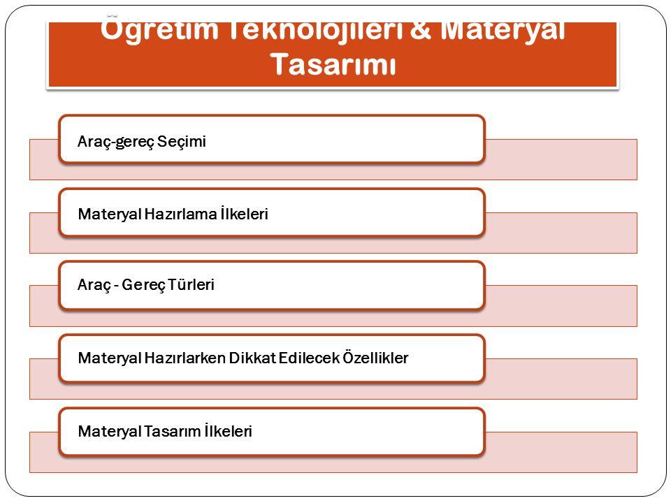 Öğretim Teknolojileri & Materyal Tasarımı