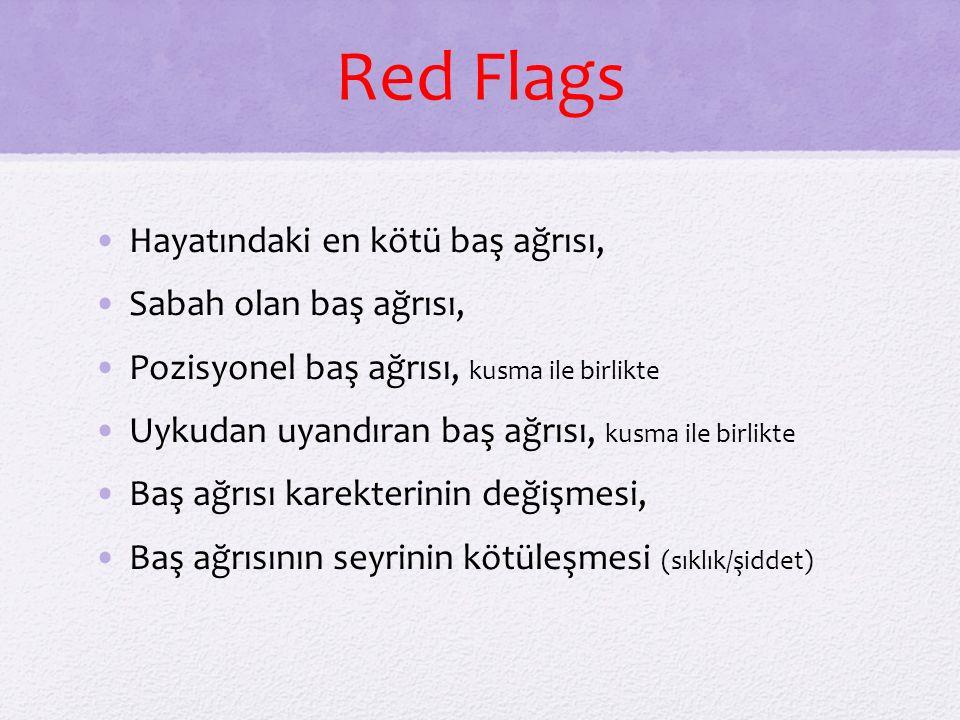 Red Flags Hayatındaki en kötü baş ağrısı, Sabah olan baş ağrısı,