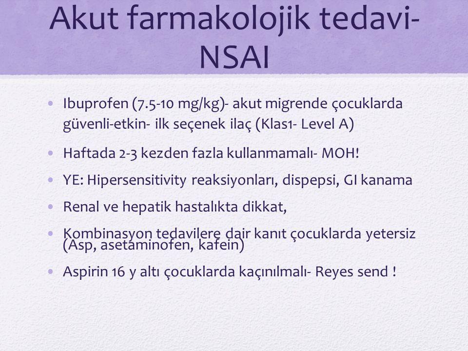 Akut farmakolojik tedavi- NSAI