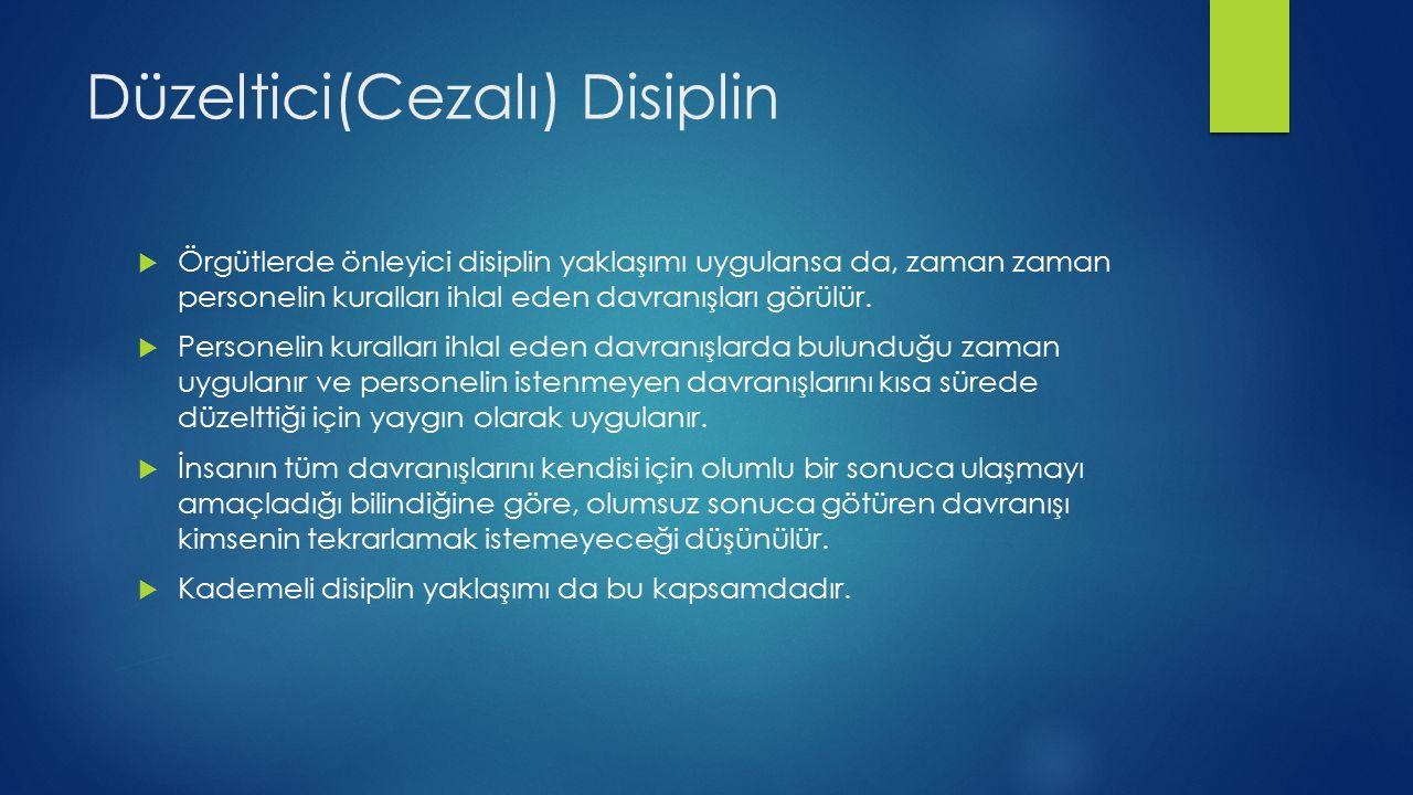 Düzeltici(Cezalı) Disiplin
