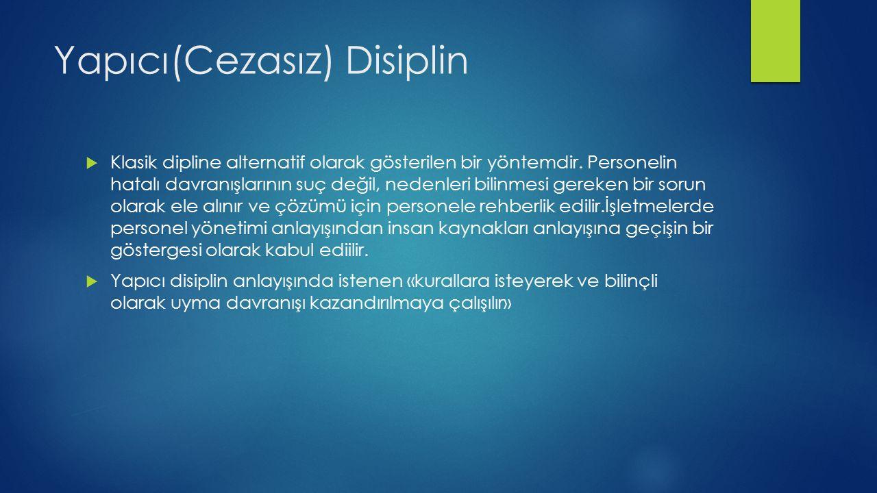 Yapıcı(Cezasız) Disiplin