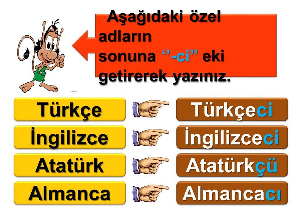 Türkçe Türkçeci İngilizce İngilizceci Atatürk Atatürkçü Almanca