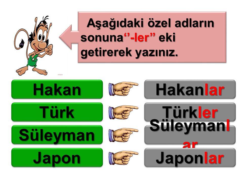 Hakan Hakanlar Türk Türkler Süleyman Süleymanlar Japon Japonlar
