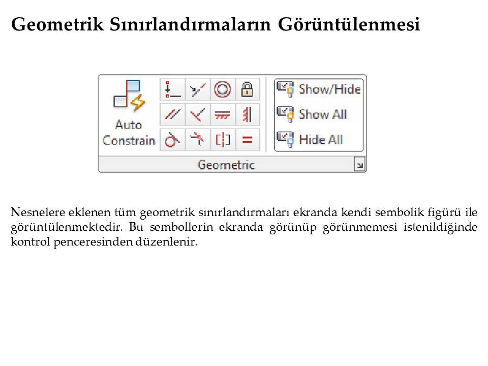Geometrik Sınırlandırmaların Görüntülenmesi