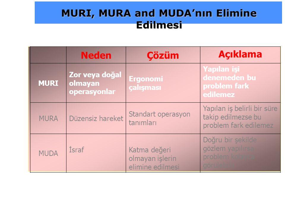 MURI, MURA and MUDA'nın Elimine Edilmesi