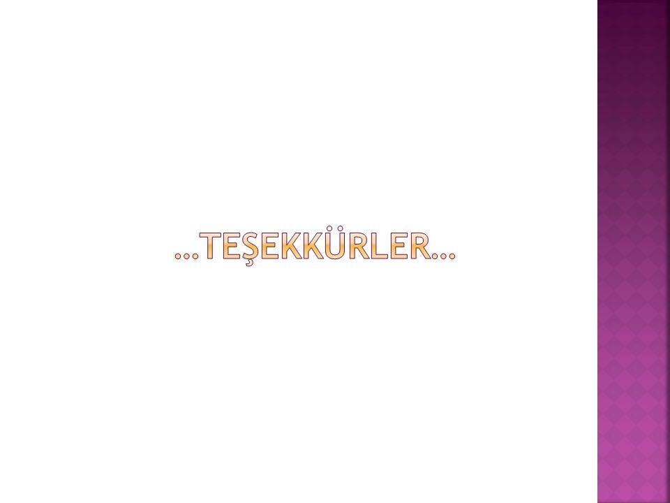…TEŞEKKÜRLER…