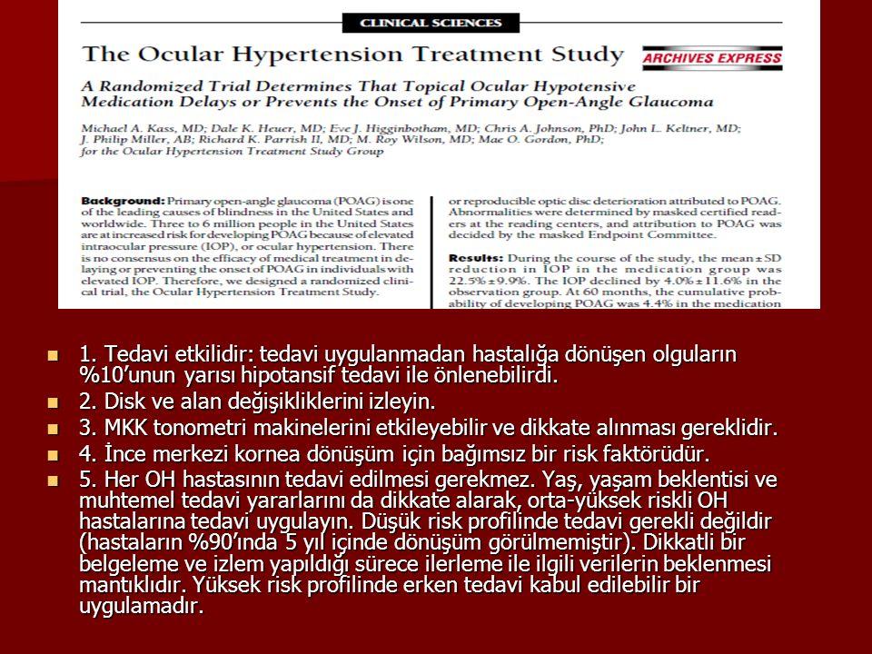 1. Tedavi etkilidir: tedavi uygulanmadan hastalığa dönüşen olguların %10'unun yarısı hipotansif tedavi ile önlenebilirdi.