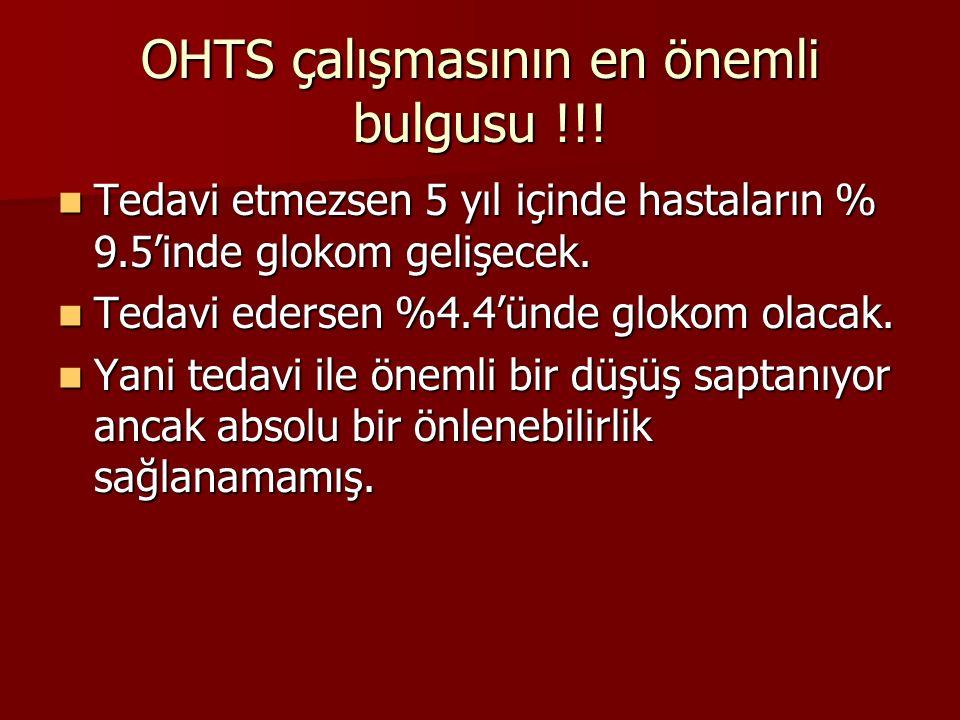 OHTS çalışmasının en önemli bulgusu !!!