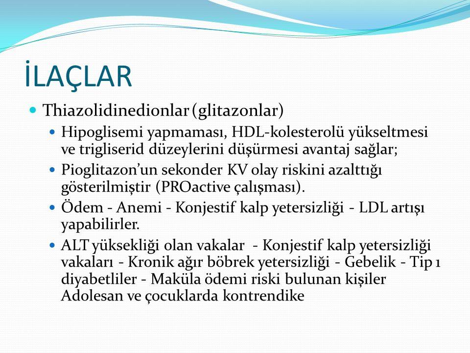 İLAÇLAR Thiazolidinedionlar (glitazonlar)