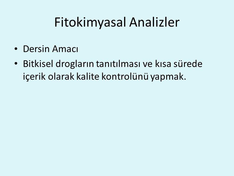 Fitokimyasal Analizler